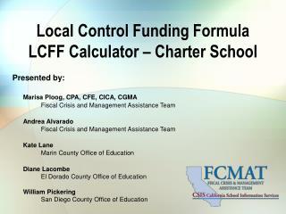 Local Control Funding Formula LCFF Calculator – Charter School