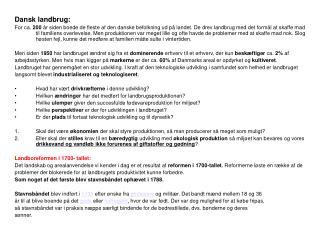 Dansk landbrug: