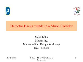 Detector Backgrounds in a Muon Collider