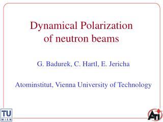 Dynamical Polarization of neutron beams