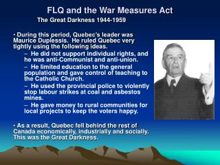 FLQ and the War Measures Act