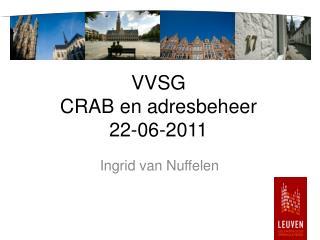 VVSG CRAB en adresbeheer  22-06-2011