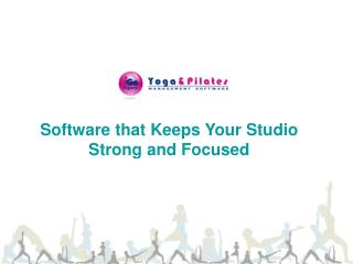 Yoga & Pilates Studio Management Software