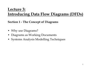 Lecture 3: Introducing Data Flow Diagrams (DFDs)