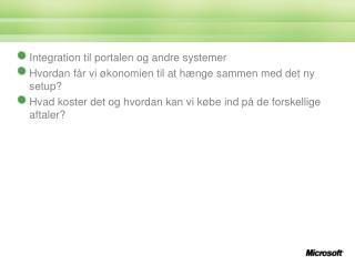 Integration til portalen og andre systemer