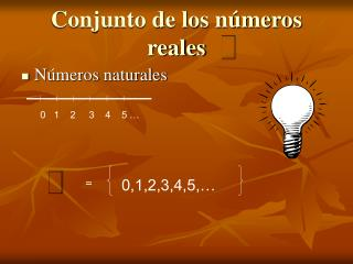 Conjunto de los números reales