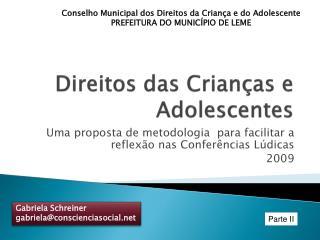 Direitos das Crian�as e Adolescentes
