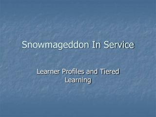 Snowmageddon In Service