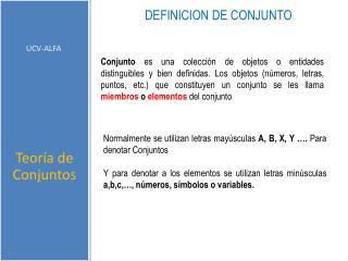DEFINICION DE CONJUNTO