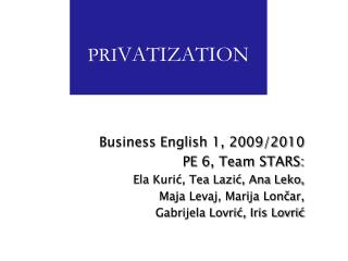 PRI VATIZATION