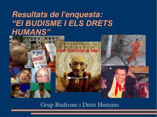"""Resultats de l'enquesta: """"El BUDISME I ELS DRETS HUMANS"""""""