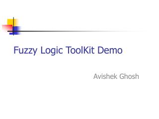 Fuzzy Logic ToolKit Demo