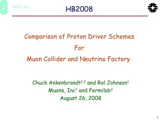 Comparison of Proton Driver Schemes For Muon Collider and Neutrino Factory�