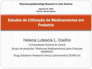Estudos de Utilização de Medicamentos em Pediatria