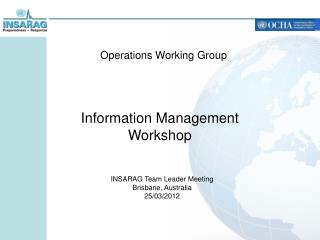 Operations Working Group