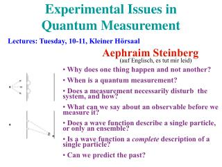 Experimental Issues in  Quantum Measurement
