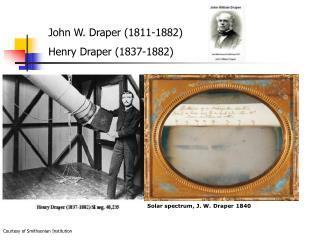 Solar spectrum, J. W. Draper 1840