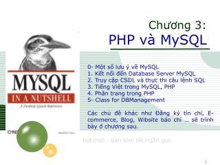 Chương 3: PHP và MySQL
