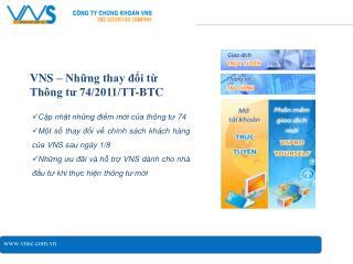 VNS – Những thay đổi từ  Thông tư 74/2011/TT-BTC