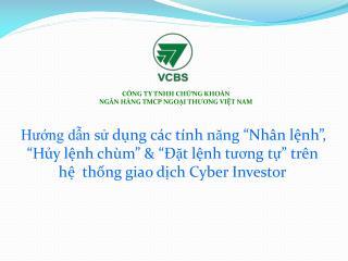C�NG TY TNHH CH?NG KHO�N  NG�N H�NG TMCP NGO?I TH ?? NG VI?T NAM
