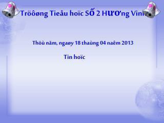 Tröôøng Tieåu hoïc Số 2 Hương Vinh
