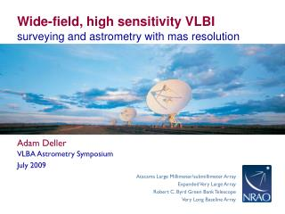 Wide-field, high sensitivity VLBI