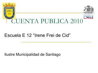 CUENTA PUBLICA 2010