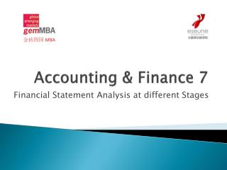 Accounting & Finance 7