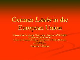 German L nder in the European Union