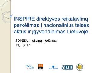 INSPIRE direktyvos reikalavim? perk?limas ? nacionalinius teis?s aktus ir ?gyvendinimas Lietuvoje