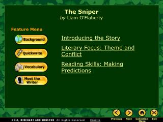 The Sniper by  Liam O�Flaherty