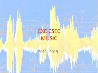 CXC CSEC MUSIC