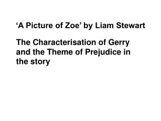 'A Picture of Zoe' by Liam Stewart