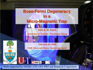 Bose-Fermi Degeneracy in a Micro-Magnetic Trap