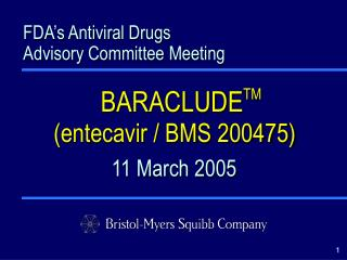 FDA's Antiviral Drugs Advisory Committee Meeting