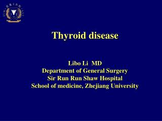 Anatomy of Thyroid