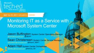 Monitoring IT as a Service with Microsoft System Center