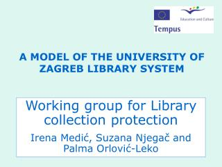 A MODEL OF THE UNIVERSITY OF ZAGREB LIBRARY SYSTEM
