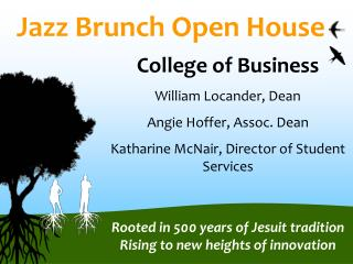 Jazz Brunch Open House