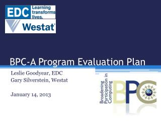 BPC-A Program Evaluation Plan