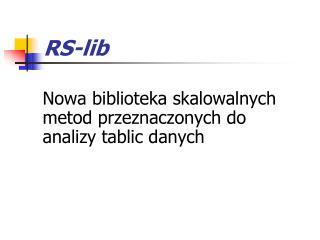 RS-lib