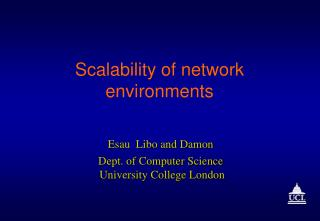 Scalability of network environments