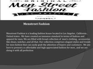 Men Fashion Tips- Menstreet Fashion