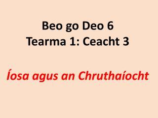 Beo go Deo 6 Tearma 1: Ceacht 3