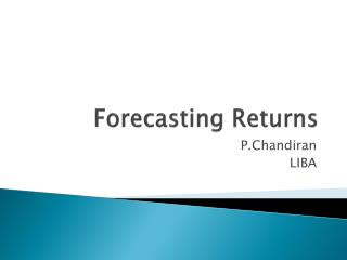 Forecasting Returns
