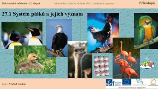 27.1 Systém ptáků a jejich význam