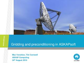 Gridding and preconditioning in ASKAPsoft