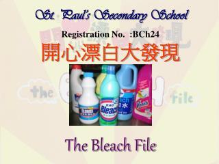 St. Paul�s Secondary School Registration No.  :BCh24