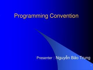 Programming Convention