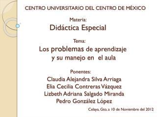 CENTRO UNIVERSITARIO DEL CENTRO DE MÉXICO
